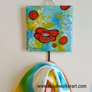 wall hook orange flowral